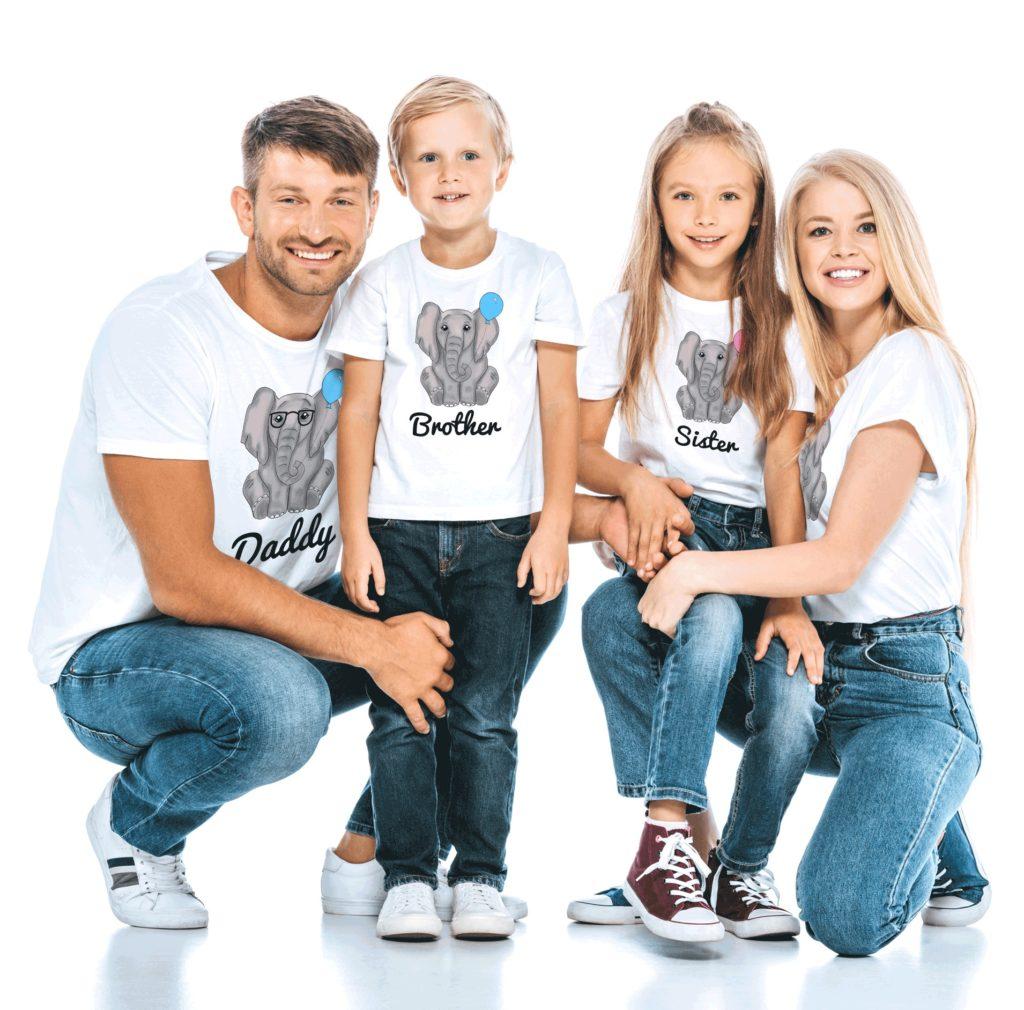 Matching family elephant shirt