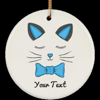 Blue kitty cat ornaments