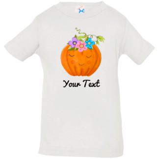 baby flower pumpkin shirts