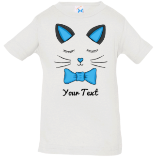 kitty cat family shirt blue