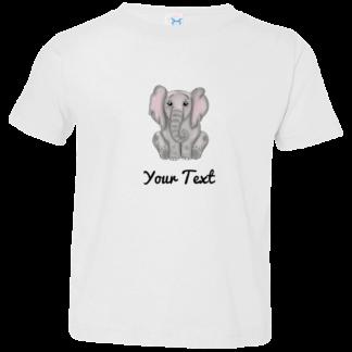 Toddler elephant birthday shirts