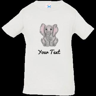 personalized matching elephant birthday shirts