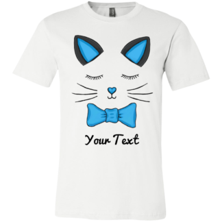 Kitty cat youth shirt for family blue