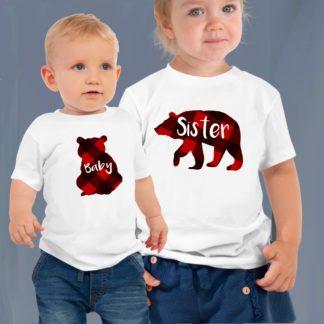 sibling buffalo plaid shirts