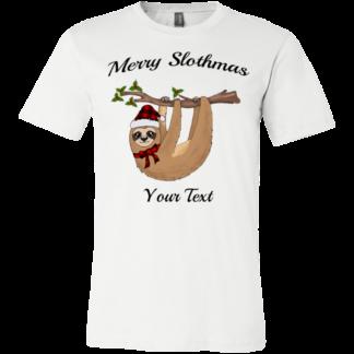 Childrens Christmas buffalo plaid sloth shirt for family