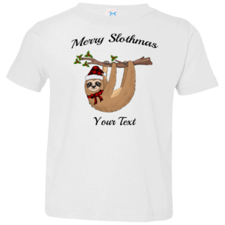 Personalized Toddler Christmas buffalo plaid Sloth shirts family