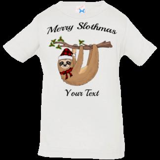 baby christmas sloth shirts