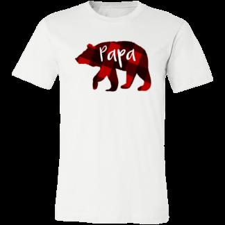 Adults plaid bear shirt for mama and papa