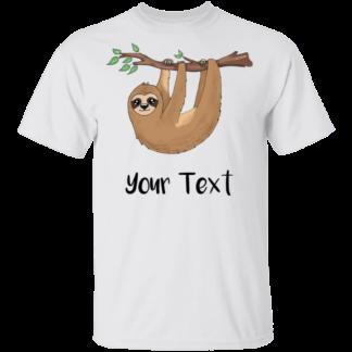 Personalized Sloth shirt kids
