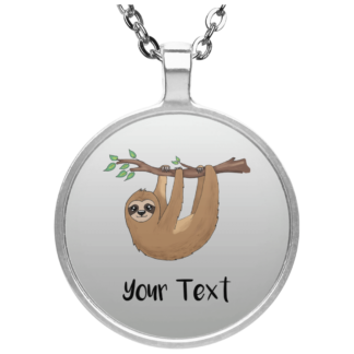 sloth charm necklace personalized