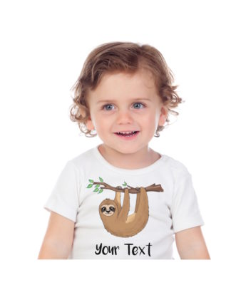 toddler sloth shirt personalized