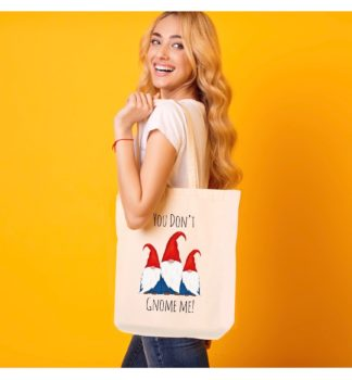 gnome canvas tote bag