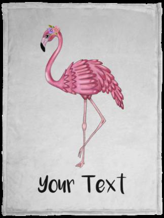 pink flamingo babay blanket