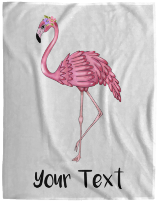 personalized flamingo blanket