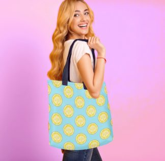 lemon tote bag for women