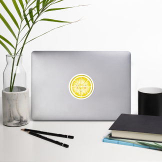 yellow lemon sticker