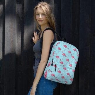 pink flamingo school backpack