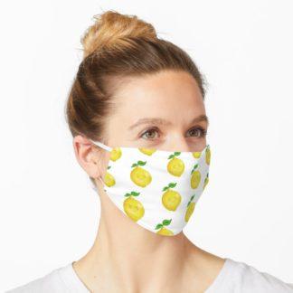 Lemon print face mask