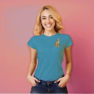 Cute Leopard t-shirt womens