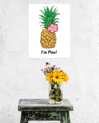 cute pinapple poster